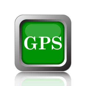 GPS icon. Internet button on black background.
